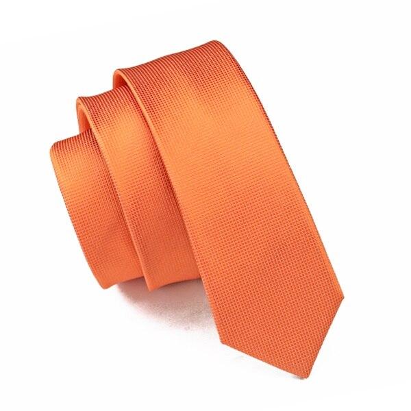 2017 Mode 100% Seide Jacquard Gewebt Krawatte Orange Solide Dünne Schmale Gravata Krawatte Krawatten Für Männer 6 Cm Breite Beiläufiger E-059