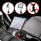 Adjustable 7 To 10 inch Tablet Holder Car Cup Tablet Mount Holder Stand Bracket For iPad 4 3 2 Mini For Galaxy Tablet PC