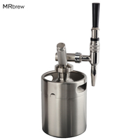 Nitro Cold Brew Coffee Maker 2L Mini Stainless Steel Keg Home brew coffee System Kit Best Choice of Diy Coffee Lovers