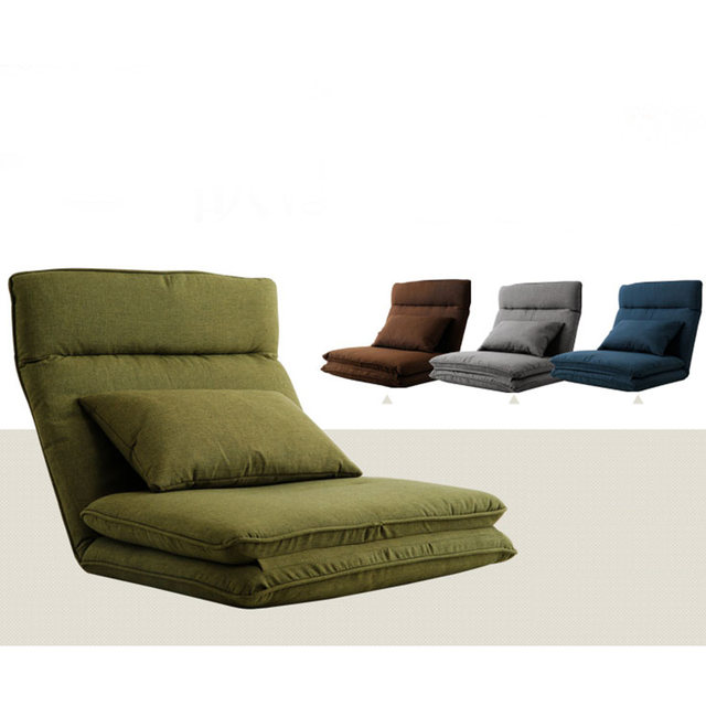 Modern Foldable Reclining Floor Sofa Bed Living Room Furniture Fabric  Upholstery Recliner Lounger Sofa Chair Daybed Sleeper