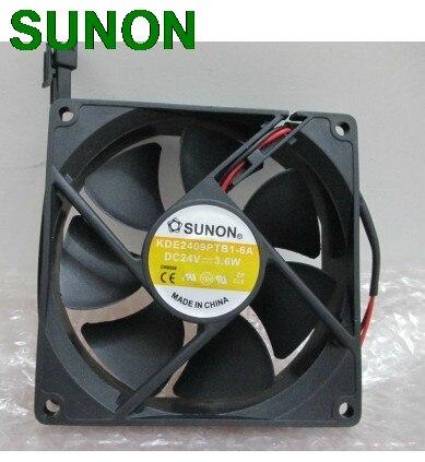 Original SUNON KDE2409PTB1-6 90mm 9225 DC 24V 3.6W 2wrie cpu cooler heatsink axial Cooling Fan 9025 90x90x25mm