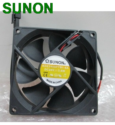 Original para Sunon KDE2409PTB1-6 90mm 9225 24V DC 3,6 W 2 alambre cpu cooler disipador ventilador de refrigeración axial 9025 90x90x25mm