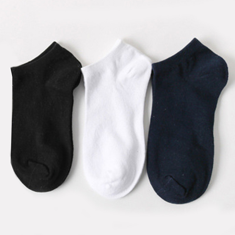 Sale 1 Pair Men New Casual Comfortable Spring High Quality Summer Low Cut Cotton Ankle Socks Pure Color 4Styles