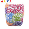 Alva 2016 New Pattern Baby Pocket Diaper with Microfiber Insert H056