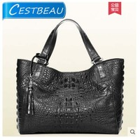 Cestbeau крокодиловой кожи сумка с двойной черепа для женщин одной сумка для женщин сумки роскошный европейский и американский стиль