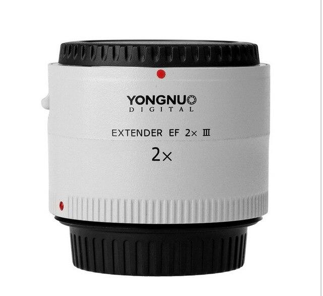 Original Yongnuo YN-2.0X III PRO 2x teleconversor Extender Auto Focus de montaje lente lente de la cámara para Caon E * OS EF lente