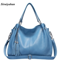 Fashion Hobos Handbags Women Bag Ladies Hand Bags Genuine Leather Bags Women Luxury Brand Shoulder Bag
