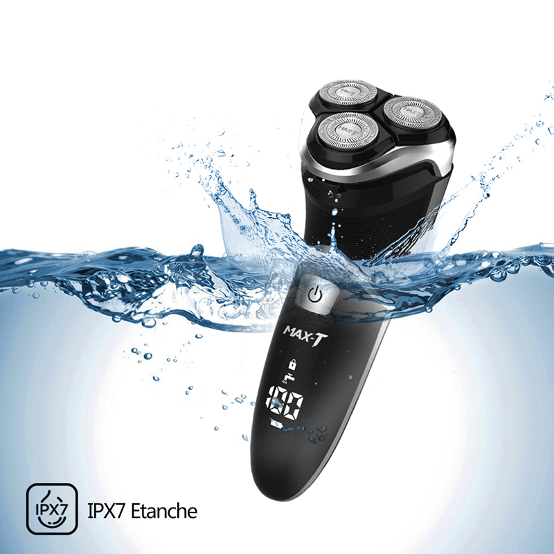 New MAX-T RMS8101 Electric Shaver Washable Shaving Machine Electric Razor 110-240V Rechargeable 3D Triple Blade ProfessionalNew MAX-T RMS8101 Electric Shaver Washable Shaving Machine Electric Razor 110-240V Rechargeable 3D Triple Blade Professional