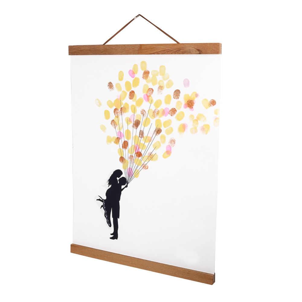 ファッションdiyカスタムポスタースクロールキャンバスプリントアートワークハンガーチーク材のポスターハンガー磁気木製フォトフレーム