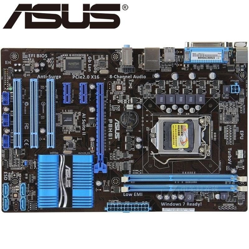 Asus P8H61 Desktop Motherboard H61 Socket LGA 1155 i3 i5 i7 DDR3 16G uATX  UEFI BIOS Original Used Mainboard On Sale