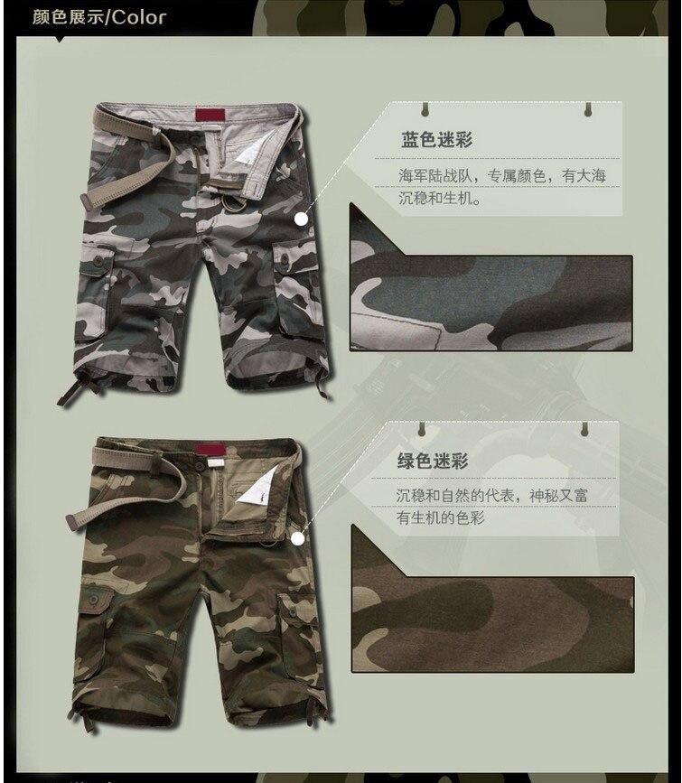 ZOEQO Новые мужские повседневные камуфляжные свободные мужские шорты Карго большой размер мульти-карман военные короткие брючные комбинезоны бермуды masculina