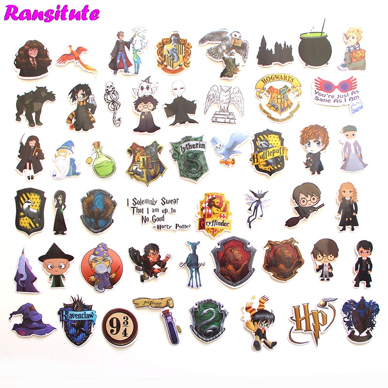 R173 50pcs/set Magic And Witchcraft PVC Waterproof Fun Sticker Toy Luggage Sticker Motorcycle And Suitcase Notebook Sticker