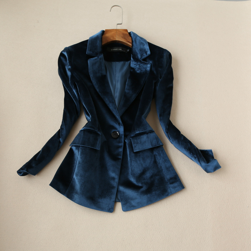 Office Lady Work Pant Suits OL 2 Piece Sets Women Velvet Blazer Jacket & Trousers Suit for Women Suits Outfits Feminino