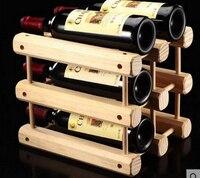 1PC DIY Creative Foldable wine rack Wooden Wine Beer Bottle Rack Organizer Holder Mount Kitchen Bar Display Wine Racks EJA 0309
