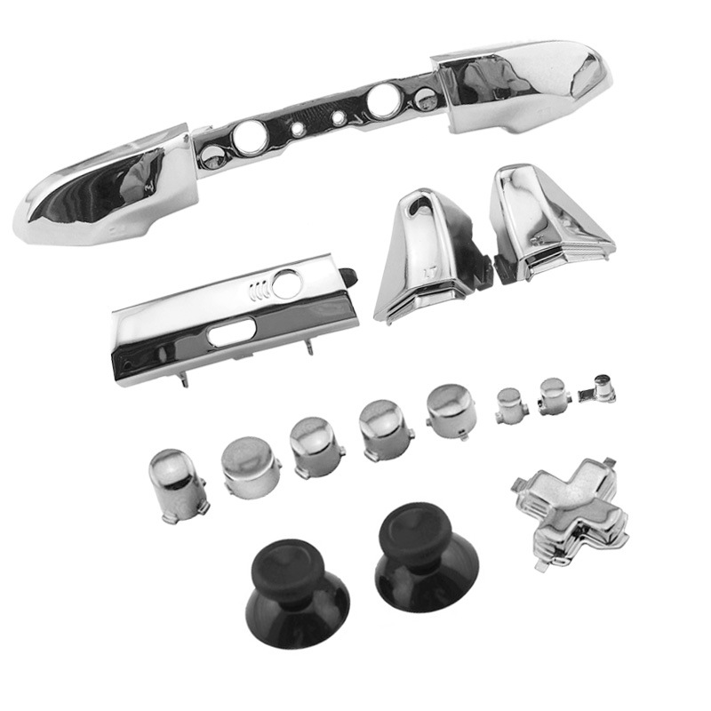 Купить с кэшбэком Chrome Plating Full Button Set Dpad RT LT RB LB ABXY Guide ON OFF Buttons For Xbox One Slim One S 1 S Controller Gamepad Repair