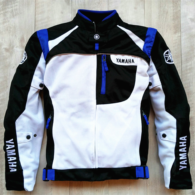2018 Summer Motocross Racing Professional Jacket Motorcycle Jacket For YAMAHA MotoGP Racing Team Moto Chaqueta with Protectors S motorcycle jacket motogp for yamaha m1 racing sweatshirt printing sport windproof windbreaker moto zip up jacket