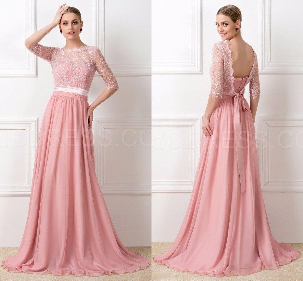 Popular Peach Lace Bridesmaid Dress-Buy Cheap Peach Lace ...