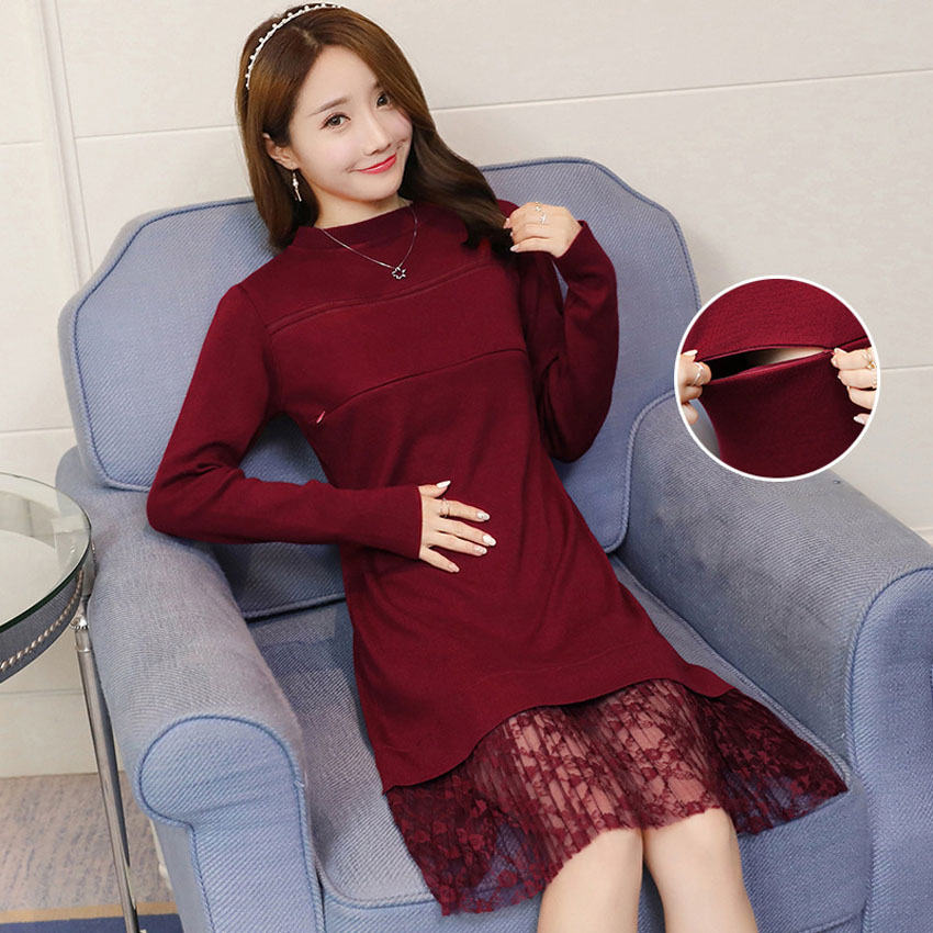 Maternity Clothing for Nursing Mothers Woman Dress for Pregnancy Breastfeeding Maternity Nursing Clothes Pregnant Women Dresses new party pregnant coat lace long pregnant breastfeeding dresses for women nursing dress hot selling