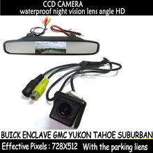 """4.3 """"ЖК-дисплей Мониторы заднего вида Kit + Реверсивный HD CCD Камера Водонепроницаемый 170 градусов для Buick Enclave GMC yukon Tahoe Suburban"""