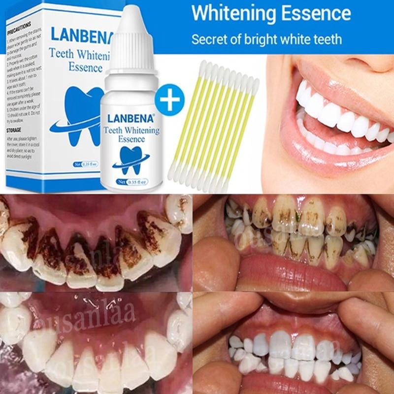 Gesicht Schönheit & Gesundheit Symbol Der Marke Lanbena Bleaching Zähne Essenz Pulver Oral Hygiene Reinigung Serum Entfernt Plaque Flecken Zahn Bleichen Dental Instrumen Werkzeuge Hitze Und Durst Lindern.