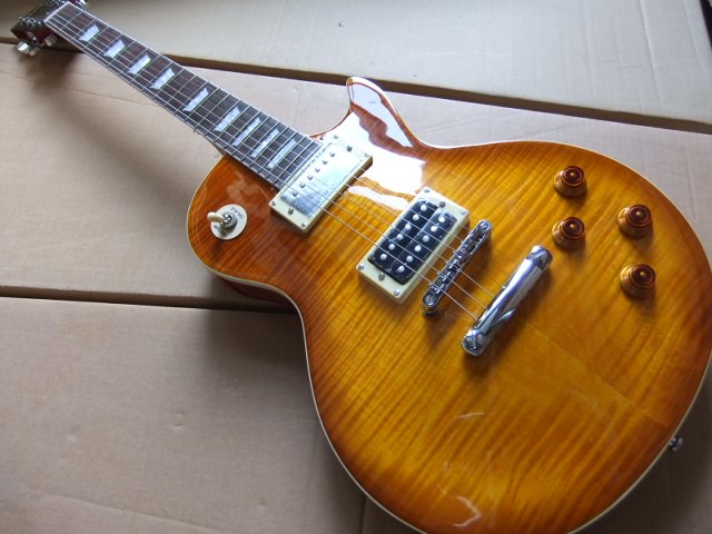 Wholesale Custom Shop Jimmy Page Number Two VOS Electric guitar, Standard LP guitar, Flamed Maple Top, Guitarra,100901
