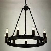Vintage Iron Chandelier Lighting For Living Room Bedroom E14 LED Vintage Home Decor Nordic Lampadario Lustre Retro Chandeliers