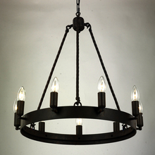 Attic country of the United States America industrial wind iron chandelier creative personality retro Internet caf