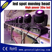 Wholesale price 30W New Disco nightclub dj Mini 30W led Moving Head spot Lights 7gobo 7 color DMX 7/12CH led spot light