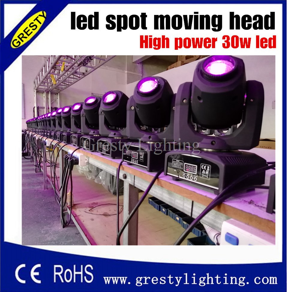 Wholesale price 30W New Disco nightclub dj Mini 30W led Moving Head spot Lights 7gobo 7 color DMX 7/12CH led spot light 10w disco dj lighting 10w led spot gobo moving head dmx effect stage light holiday lights