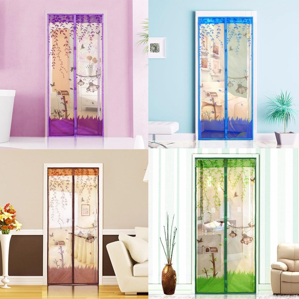 1 Stk. 2016 Neuankömmling Magnetic Mesh Screen Tür Moskitonetz Vorhang Vor Insekten schützen Vier Farben 90 * 210cm / 100 * 210cm