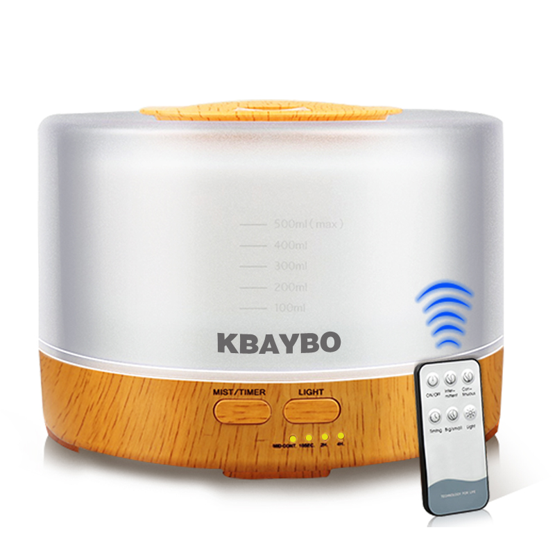 KBAYBO Remote Control Air Humidifier Essential Oil Diffuser Ultrasonic Mist Maker Ultrasonic Aroma Diffuser Atomizer color LED