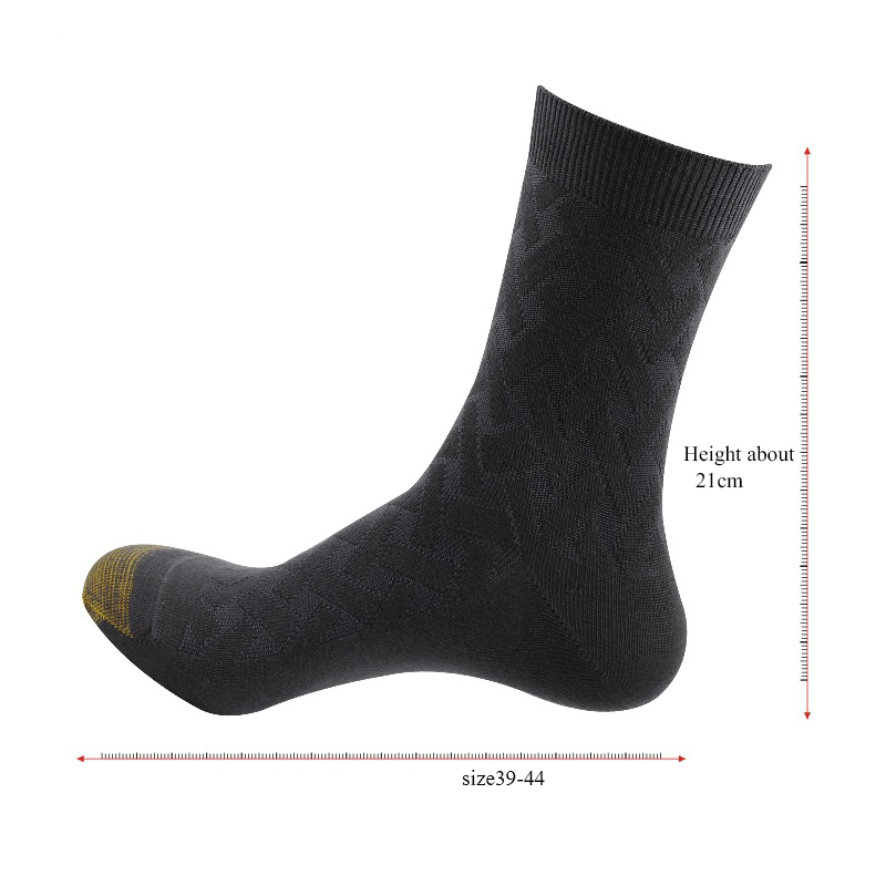 Image 2 - High Quality Men Winter Bamboo Fiber Socks Men Square Compression Business Dress Long Socks Deodorization Breathable 6pairs/lot-in Men's Socks from Underwear & Sleepwears