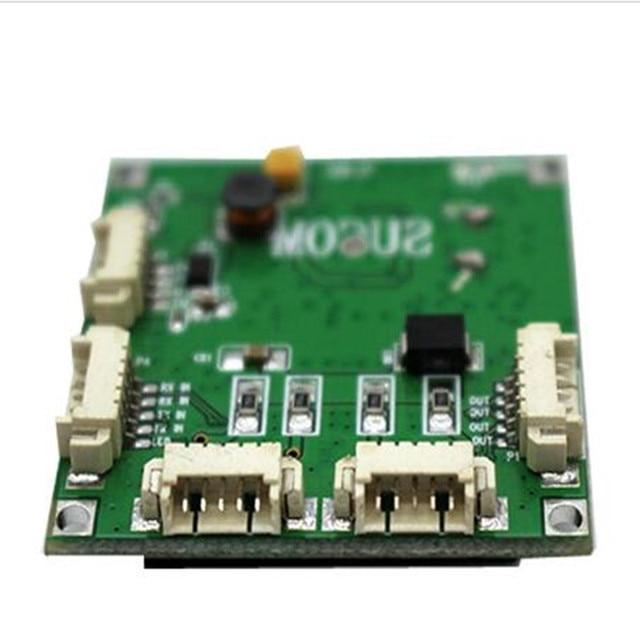מיני PBCswitch מודול גודל 4 יציאות רשת מתגי Pcb לוח מיני ethernet מתג מודול 10/100 Mbps OEM/ ODM ethernet רכזת