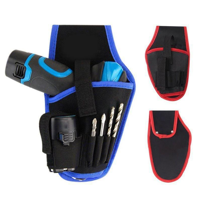 1pc Electrical Tool Bags Electricians Waist Tool Belt Pouch Bag 12V 18V Lithium Drill Carry Case Kit Holder Blue Red