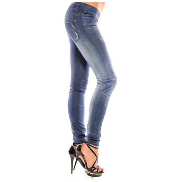 Women's Jeans Leggings with Small Patches