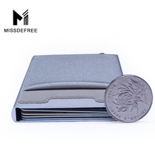 Aluminum Wallet With Elasticity Back Pocket ID Card Holder