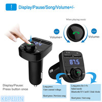 Bluetooth Car Kit FM Transmitter Handfree Dual USB Car Charger styling for saab 9 3 9 5 93 95 900 9000 accessories