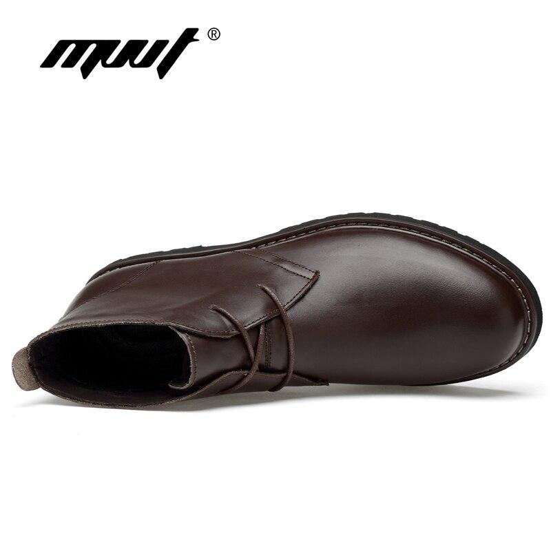 Fur brown Pele Alta 48 Com black Quente De Genuína Plus Size Fur Qualidade Sapatos marrom Couro Preto With Vestido Negócios Inverno Formais Botas Homens Awng6
