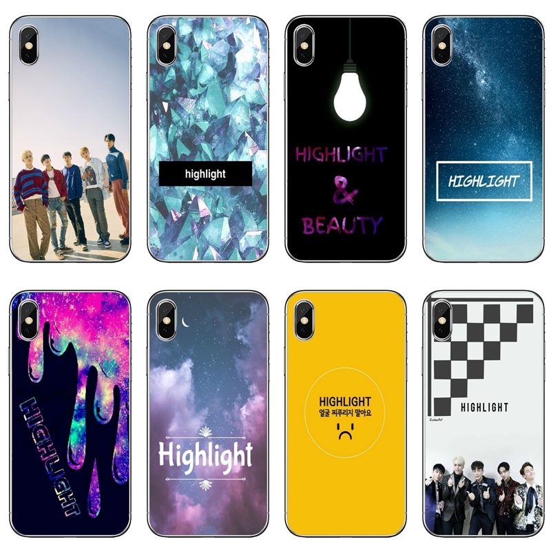 cd374dfbd4a Highlight kpop Korean group boy TPU Soft Accessories phone cover case For  Apple iPhone X XR