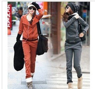 2012Women's fashion leisure two pieces of new sports clothing hair suit