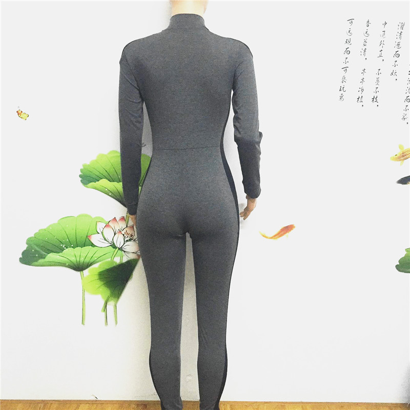 long sleeve full length zipper open close one piece jumpsuit sportswear bodysuit catsuit fitsuit activesuits tracksuit women's plus size sportsuits (6)