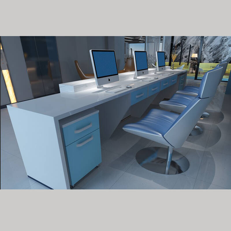 New Company Paint Front Desk Simple Modern Desk Welcome Counter Cashier Bar Counter