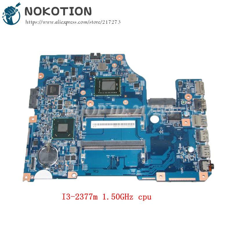 NOKOTION NBM1K11002 48.4VM02.011 MAIN BOARD For Acer aspire V5-571 Laptop Motherboard I3-2377m 1.50GHz cpu DDR3 laptop motherboard fit for acer aspire 3820 3820t notebook pc mainboard hm55 48 4hl01 031 48 4hl01 03m