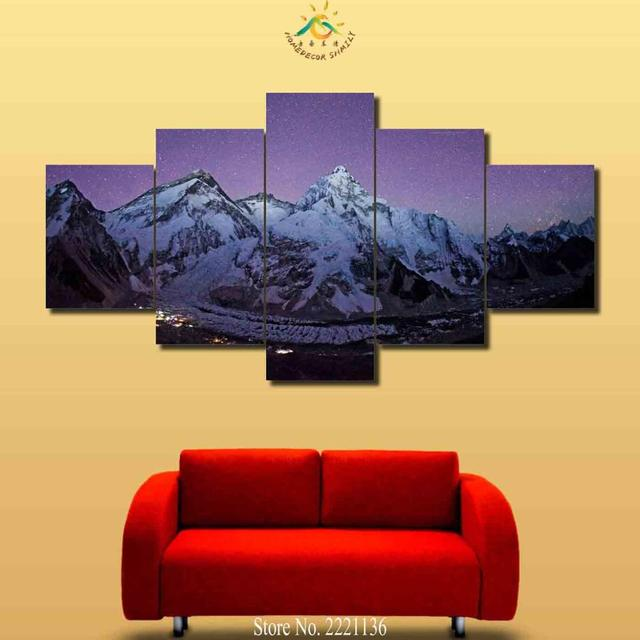 3 Pieces Mount Everest Pictures Wall Art HD Painting Pictures For ...