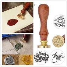 Уникальная древесина ручка воск печать штамп Свадебный заказ/поздравления конверт печать Скрапбукинг поздравления сургучные штампы