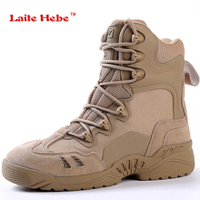 Laite Hebe Delta Tactical Shoes Military Boots   New SWAT Combat Boots Outdoor Army Shoes Breathable waterproof Boots Hiking Men