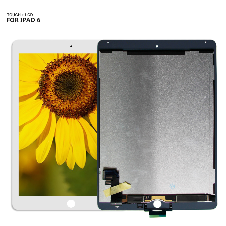 For iPad6 Air 2 iPad 6 Air2 6th A1567 A1566 LCD Display Touch Screen Digitizer Assembly Replacement 5pcs lcd display digitizer touch screen assembly for ipad air 2 2nd gen a1566 a1567 replacement dhl free