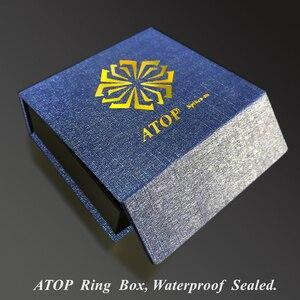 Image 5 - 8Mm Nam Nhẫn Xanh Dương Vòm Với Vát Bạc Cạnh Nhẫn Cưới Miễn Phí Vận Chuyển