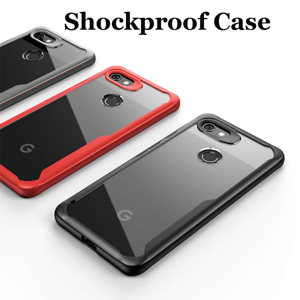 Shockproof Armor Case For Google Pixel 3 XL Case 3A 3XL Transparent Case Cover For Pixel 2 XL Luxury Silicone Hard  Acrylic Back