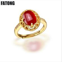 Elegant fashion accessories 925 sterling silver crystal agate chalcedony retro egg-shaped open ring Hot. J0126
